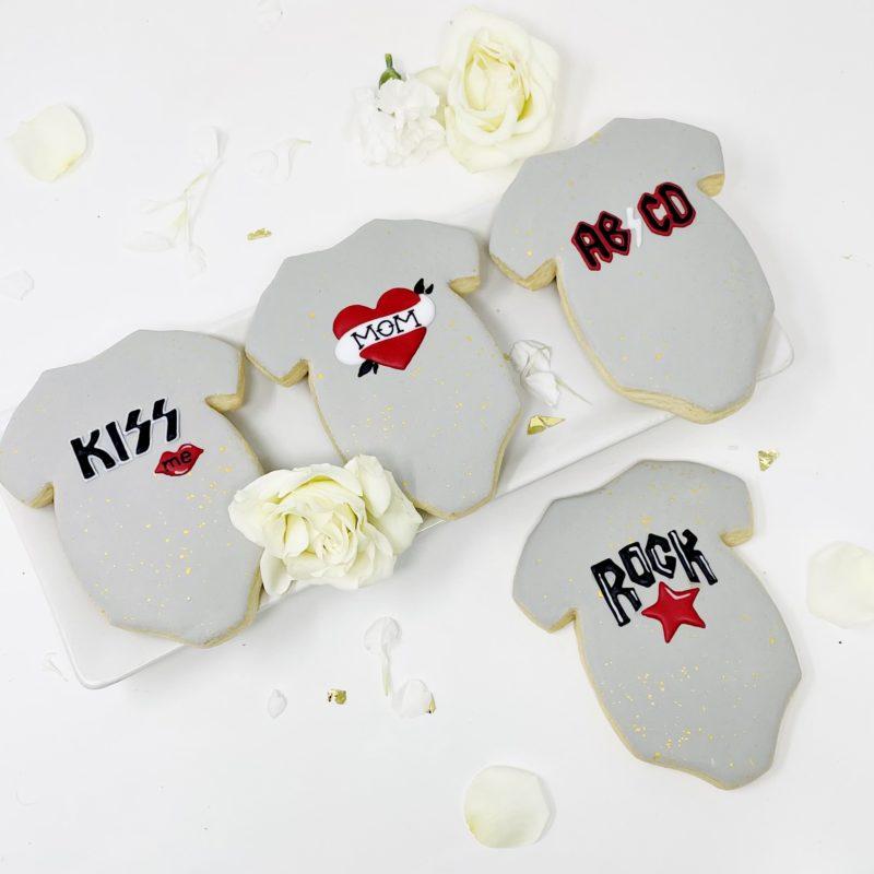 Rock n' Roll Onesie Cookies