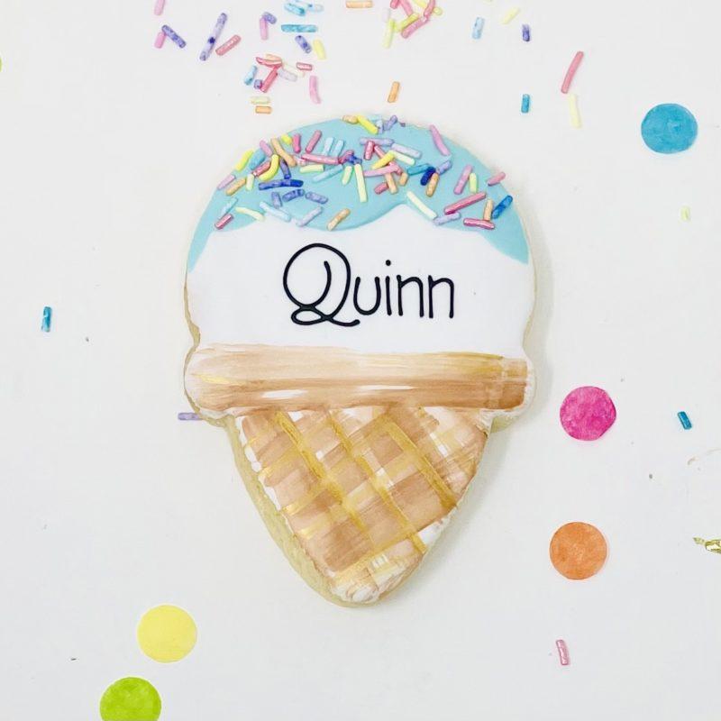 Vegan Personalized Ice Cream Cookies