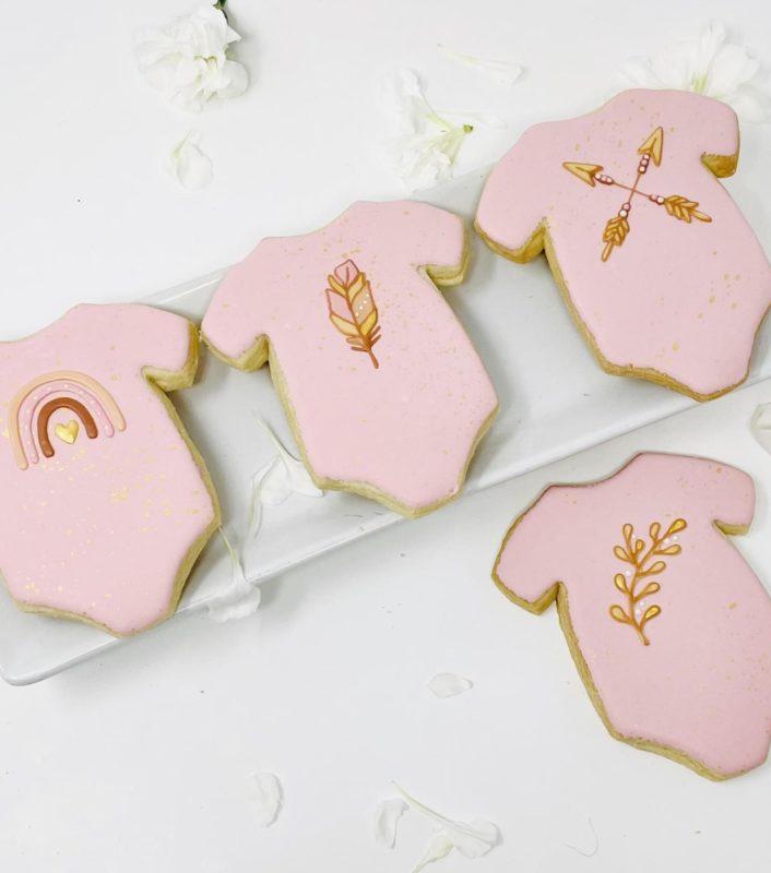 Vegan Boho Onesie Cookies