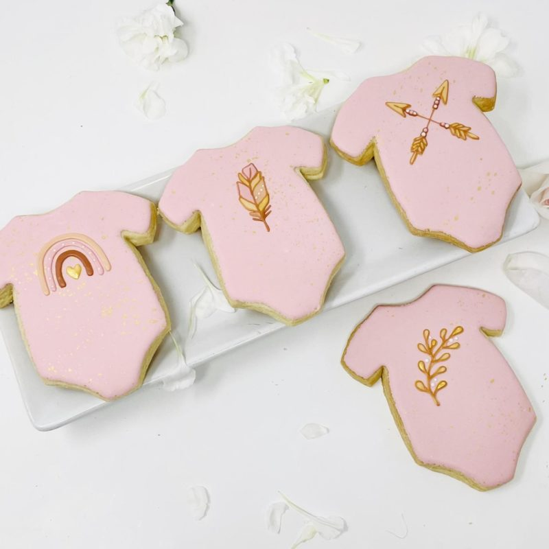 Boho Onesie Cookies