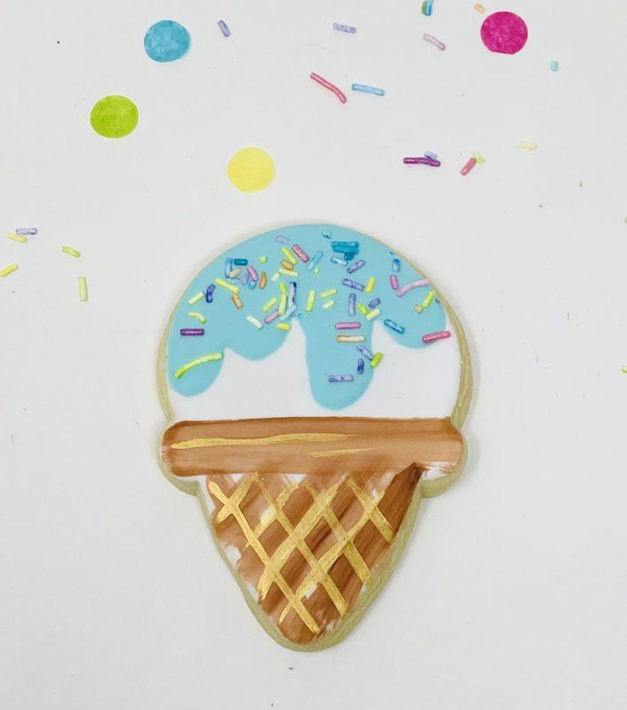 Vegan Ice Cream Cone Cookies