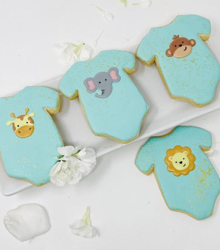 Vegan Jungle Onesie Cookies