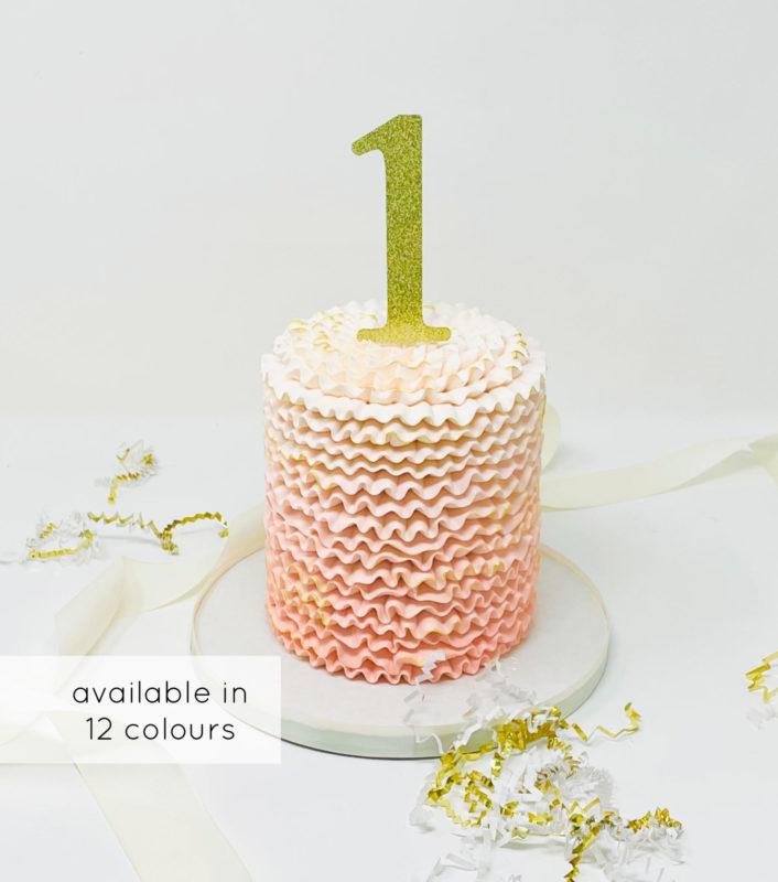Luxe Ombre Ruffle Smash Cake
