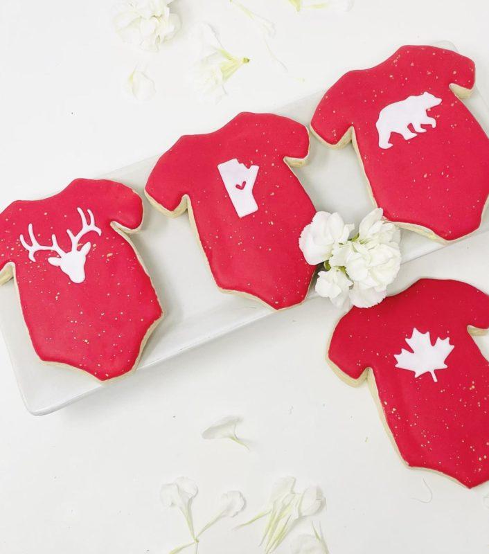 Vegan Friendly Manitoba Onesie Cookies