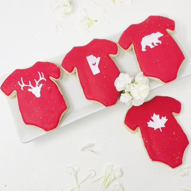 Friendly Manitoba Onesie Cookies