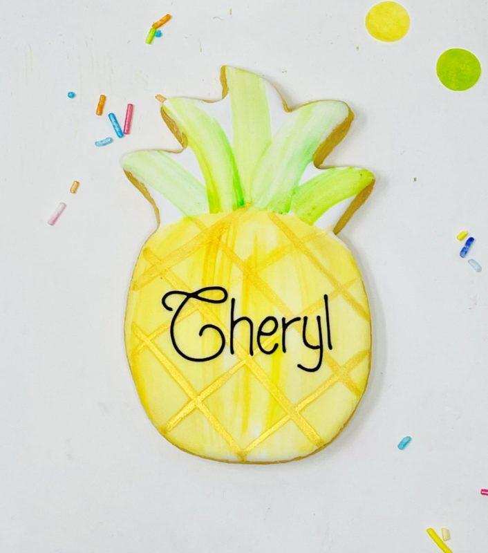 Vegan Personalized Pineapple Cookie