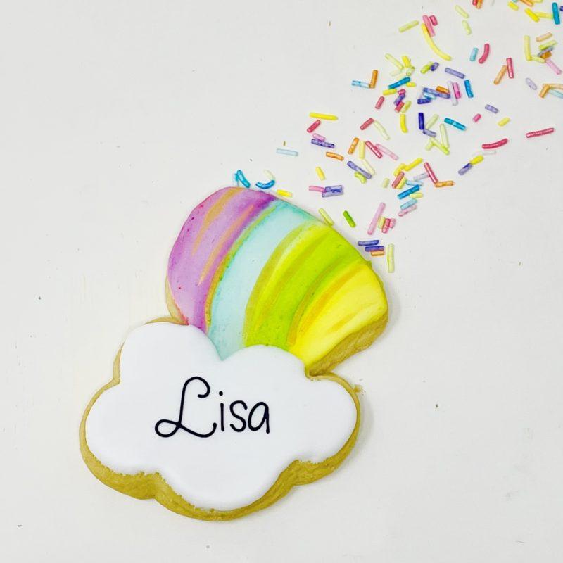 Vegan Personalized Rainbow Cookie