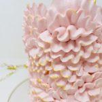Luxe Ruffled Rose Smash Cake