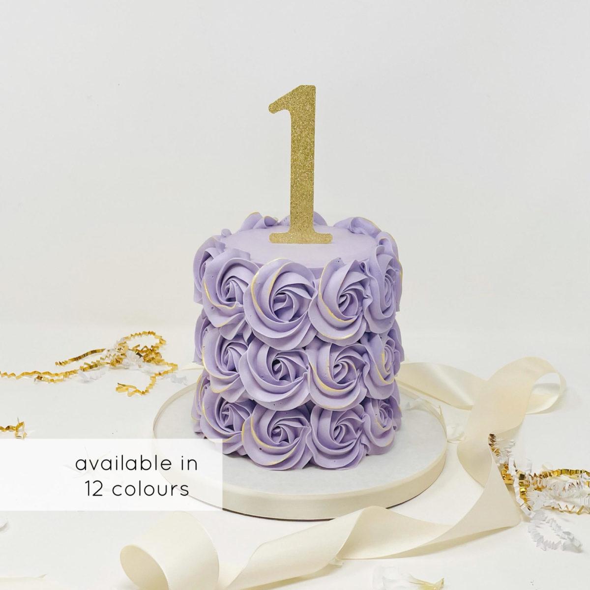 Luxe Rosette Smash Cake