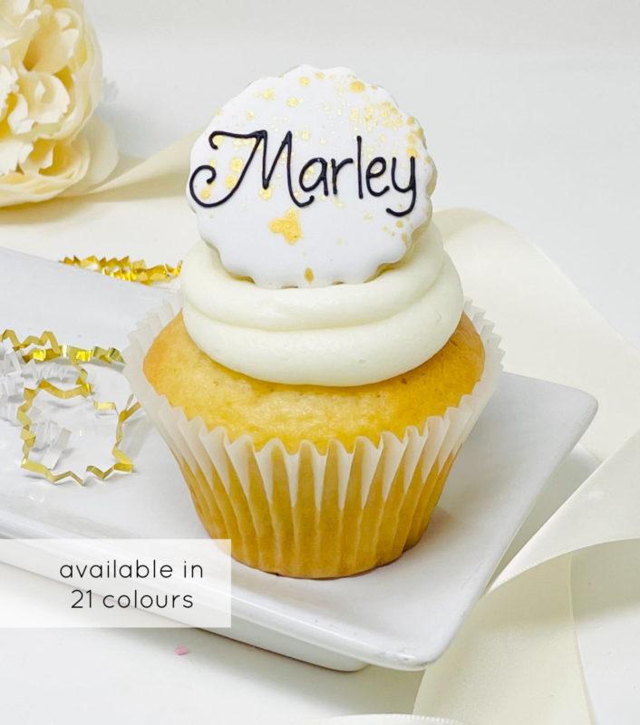 Vegan Personalized Cupcakes