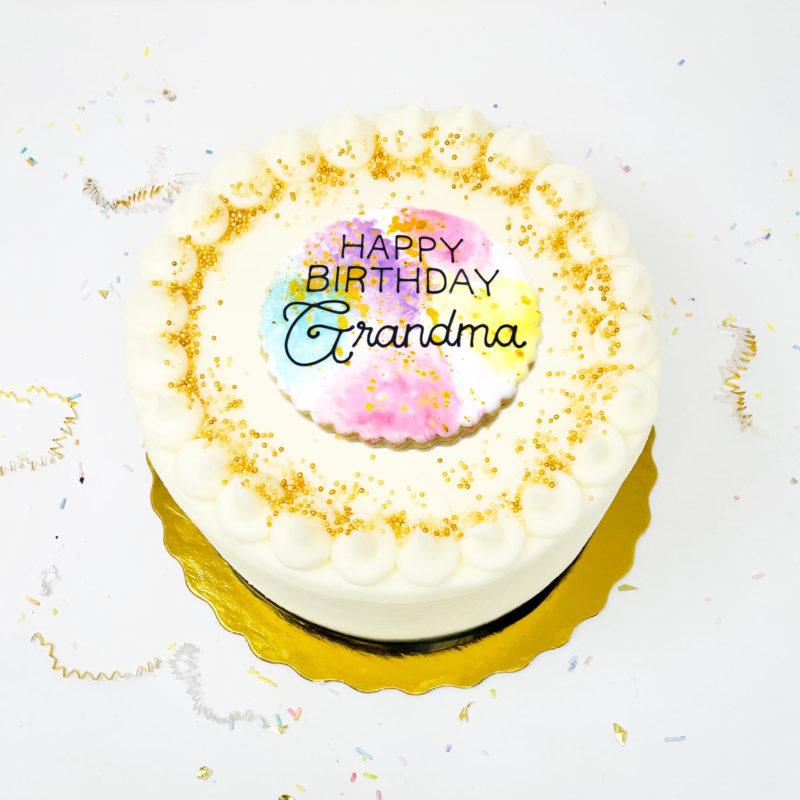 Vegan Let's Celebrate Cake