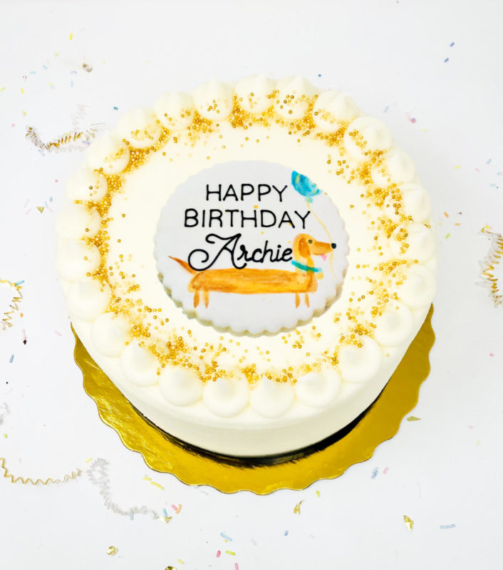 Vegan Pup Party Cake
