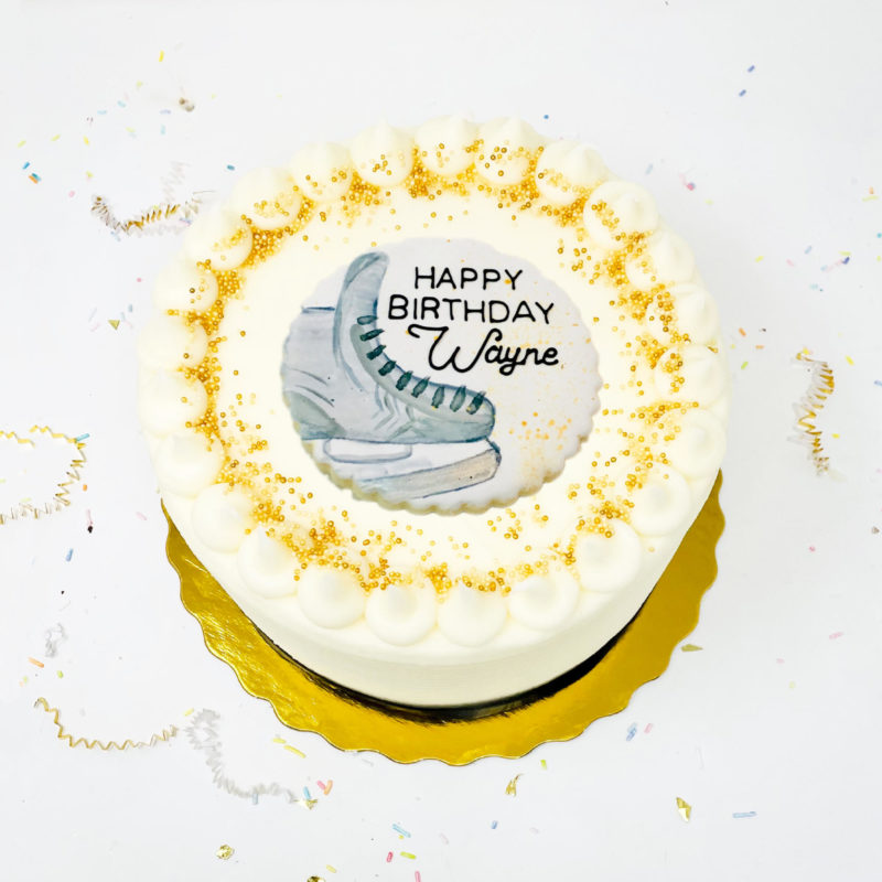 Vegan Hockey Fan Cake