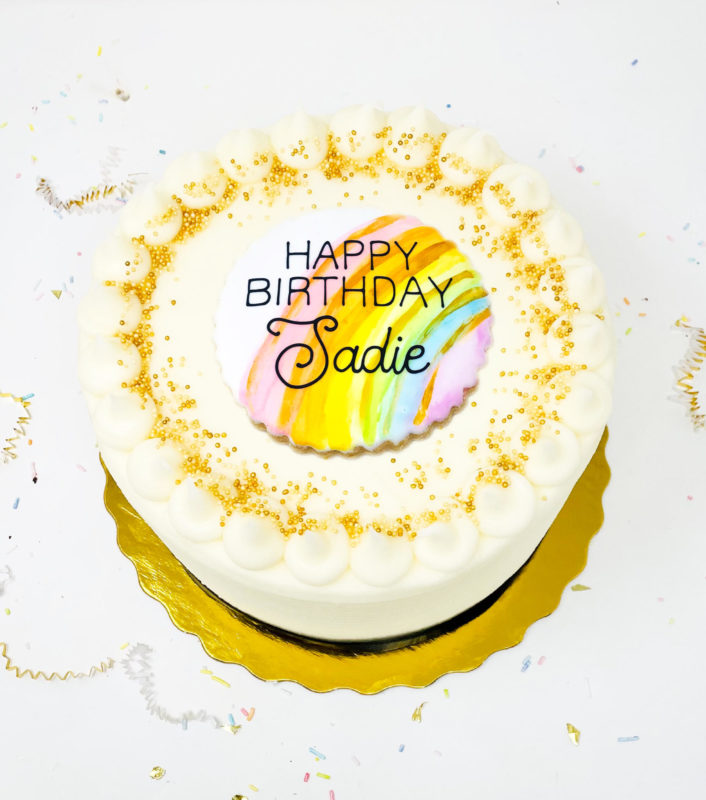 Vegan Over The Rainbow Cake