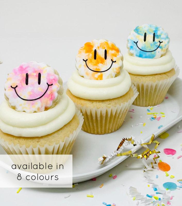 Vegan Happy Watercolour Cupcakes