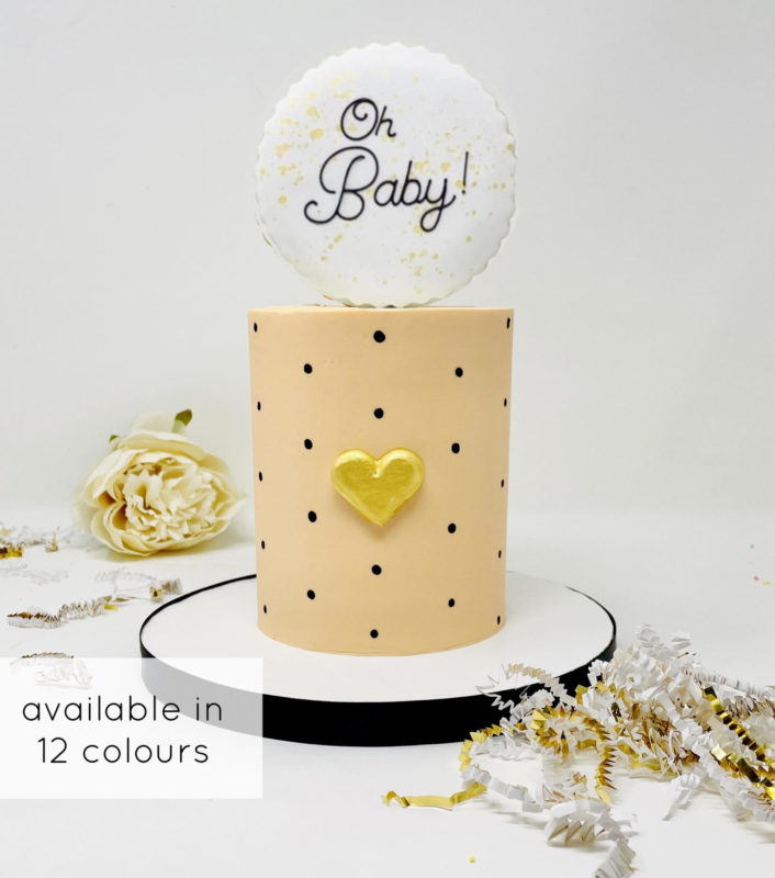 Luxe Heart of Gold Cake