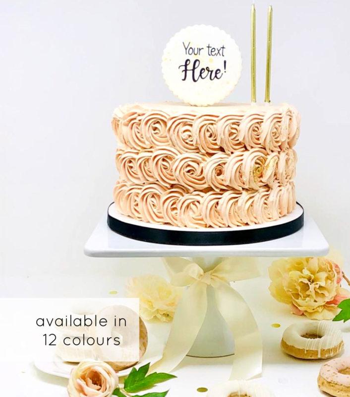 Luxe Rosette Cake