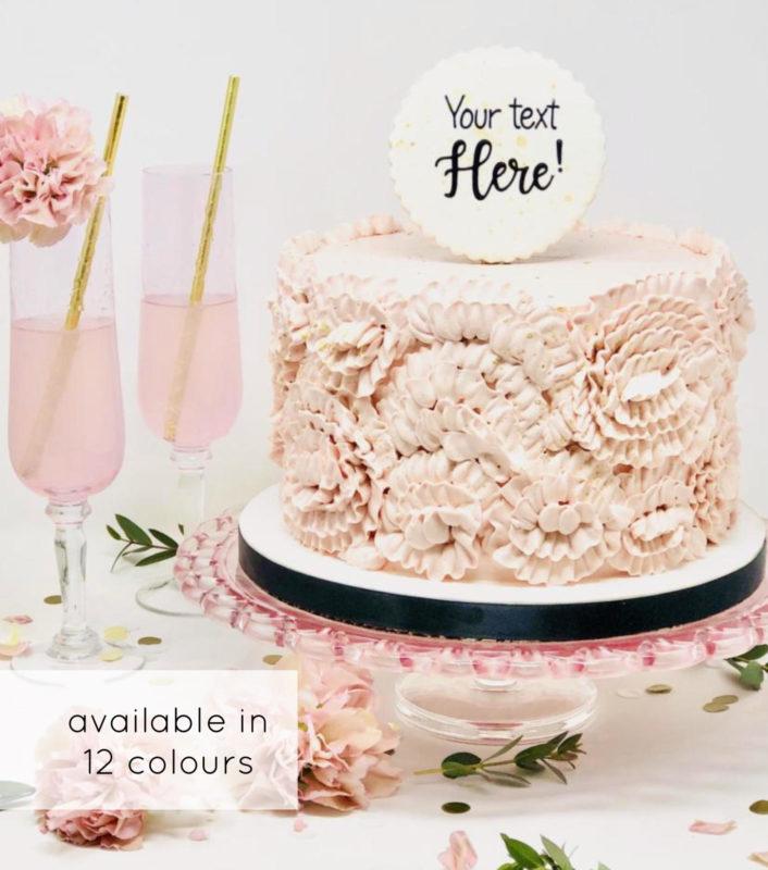 Luxe Ruffled Rose Cake