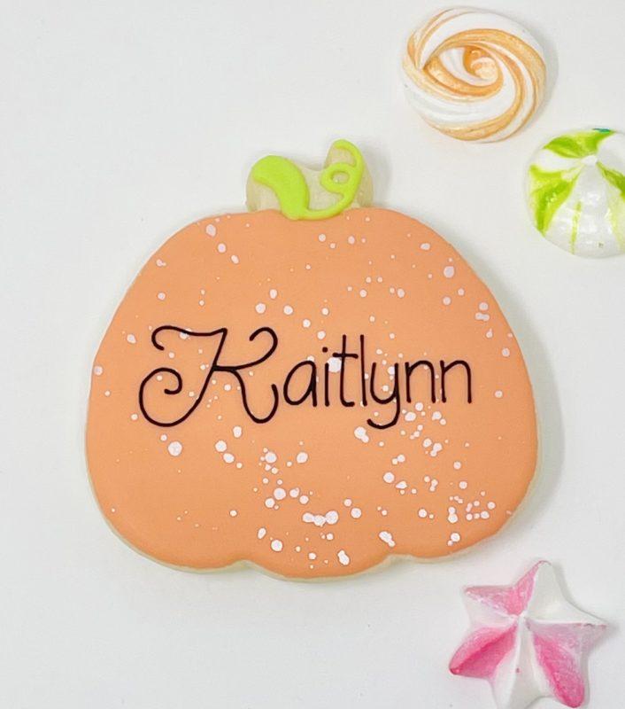 Personalized Halloween Pumpkin Cookies