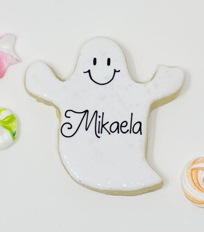 Personalized Halloween Ghost Cookies