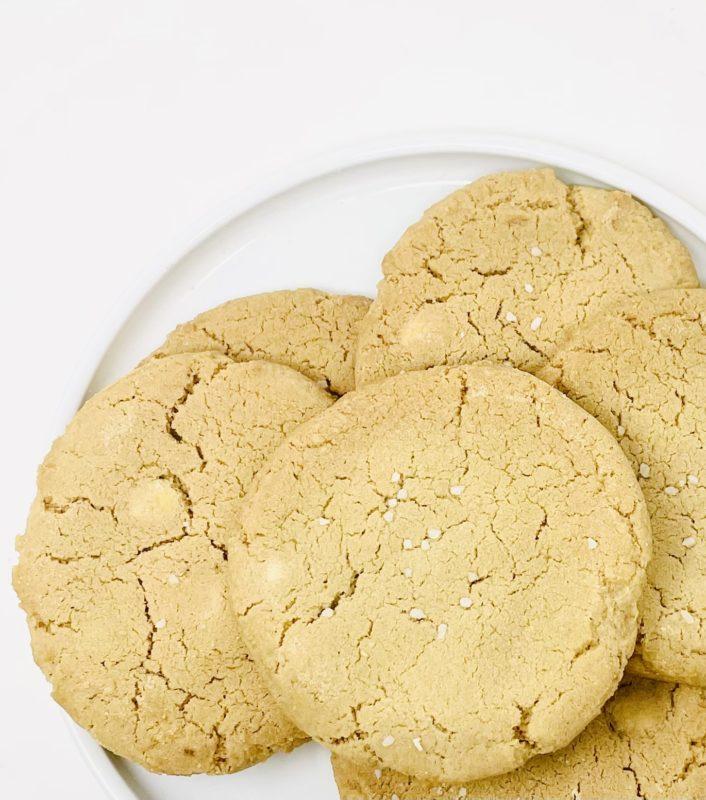 Salted Blondie Cookies
